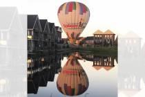 Luchtballon landt tijdens eerste wedstrijd Oranje in woonwijk in Joure