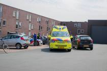 Bestuurster scootmobiel gewond na val