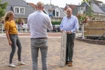 FOTO'S / Voorbereidingen opening terras over het water bij Tolhuisbrug