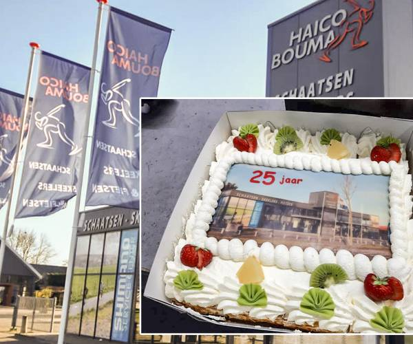 Haico Bouma Schaatsen, Skeelers en Fietsen viert 25-jarig jubileum