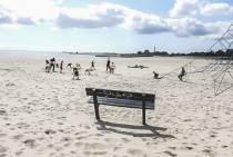 Gratis freerunning op het Lemster strand