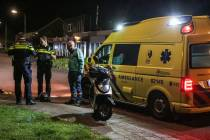 Eenzijdig ongeval met scooter in Lemmer