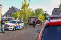 Gewonde uit brandende woning in Lemmer gehaald