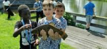 FOTO'S / Kinderen de Twa Fjilden uit Joure vissen met veel plezier