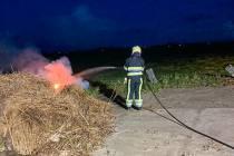 Banden in brand in Oosterzee