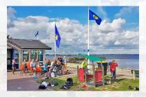 Watersportvereniging ''Sleattemermar'' maakt schoon in Balk
