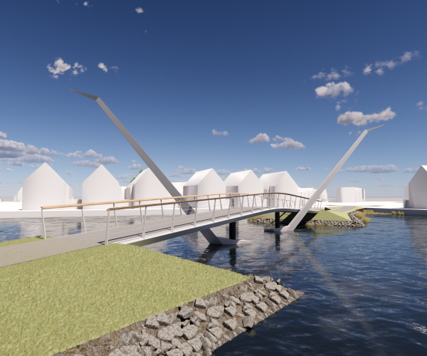 Ontwerp nieuwe brug tussen Skipsleat en Wyldehoarne in Joure gepresenteerd