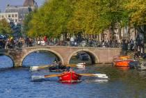 Team Lytse Bear wint met 67 watt de Grachtenrace in Amsterdam