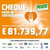 Poiesz doneert € 81.739,77 aan de Voedselbanken in het Noorden