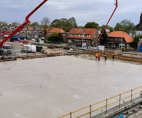 1.000 m3 beton gestort voor Albert Heijn